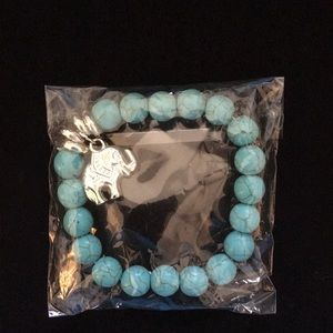 Jewelry - Turquoise bracelet with cute elephant charm!!